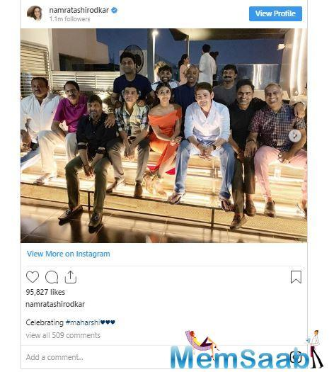 Namrata Shirodkar took to Instagram and shared a couple of photos from the party with the caption,