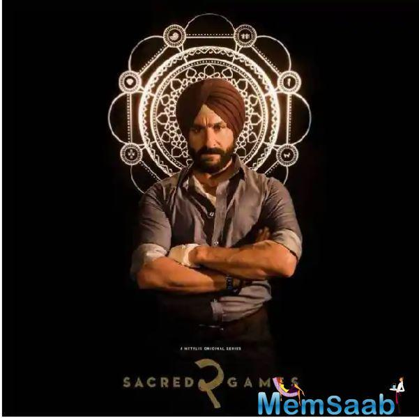 Saif Ali Khan's look from Sacred Games 2 too was also revealed. The actor, who plays Sartaj Singh, is giving a tough look to the camera as he nurses a hand injury.