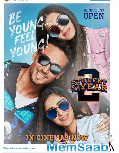 Tiger Shroff's Student of the Year 2, which has opened big at the box office despite the film releasing on a non-holiday and equal viewership competition with the IPL finals, is definitely winning hearts across the nation.