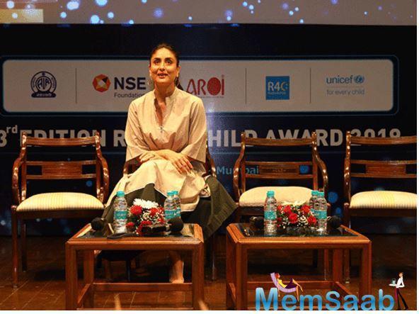UNICEF celebrity advocate Kareena Kapoor Khan attended the third edition of the UNICEF – AROI Radio4Child Awards in Mumbai recently.