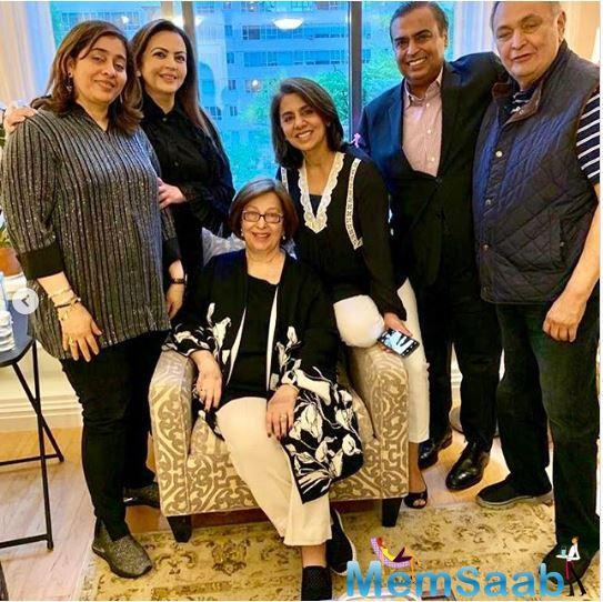 This time, business tycoon Mukesh Ambani along with wife Nita dropped by to meet Senior Kapoor in NYC.