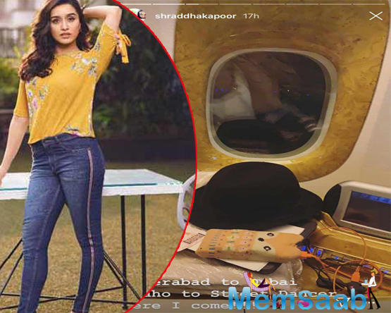 Shraddha Kapoor is constantly in a travel mode as the young actress has her kitty full of films, juggling around shoots from location to location.