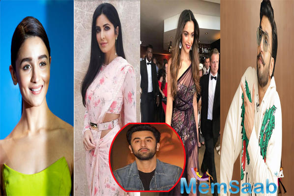 During a recent event, when the actor was asked about celebrities that he secretly follows on Instagram, he went on to name two of his exes, Deepika Padukone and Katrina Kaif, his girlfriend Alia Bhatt, and Ranveer Singh.