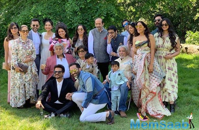 Sonam Kapoor's cousin, Priya Singh, got married to Ranbir Batra, and Sonam has been giving her fans a sneak peek from the festivities.