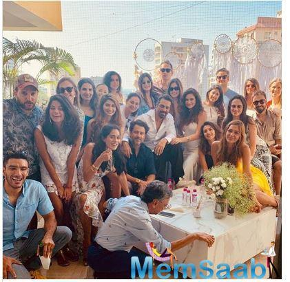 After the babymoon in the Maldives, Arjun Rampal hosted a baby shower for girlfriend Gabriella Demetriades over the weekend.