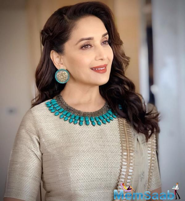 While talking to the news agency PTI, the Dhak Dhak girl was asked about the biopic. Madhuri Dixit called the rumours of her biopic false and said nothing that sorts is happening.
