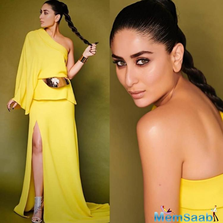Kareena Raise The Temperature In A Yellow Gown By Stephane
