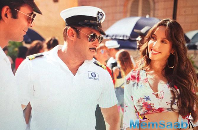 When it comes to working about Salman Khan, Nora said,
