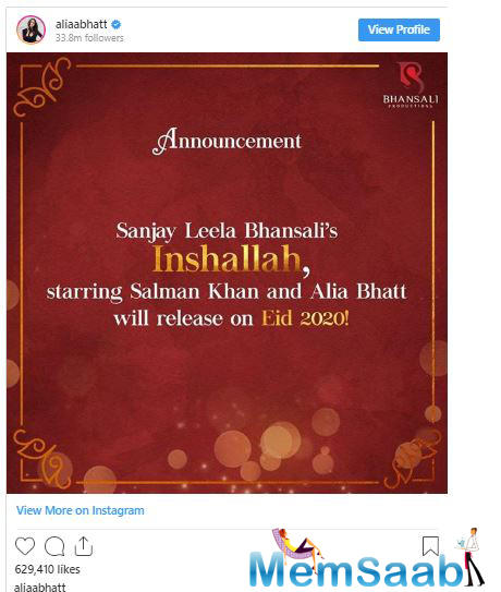 Salman Khan, in an interview, had shared his excitement about working with Alia Bhatt