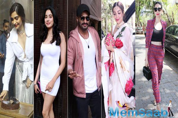 Bollywood celebrities descended at her residence for the occasion