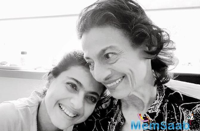Kajol shared a picture on social media with mother Tanuja who recently underwent surgery. The veteran actress was undergoing treatment for abdominal pain at Lilavati Hospital in Bandra, Mumbai.