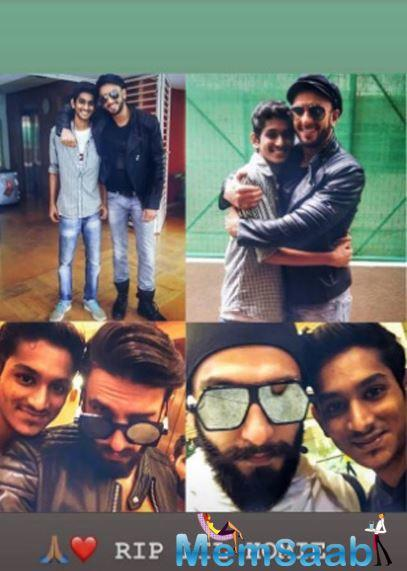 Ranveer Singh, who was shocked by the news, took to Instagram to offer his condolences. He shared a collage of his pictures with Dulera and wrote,