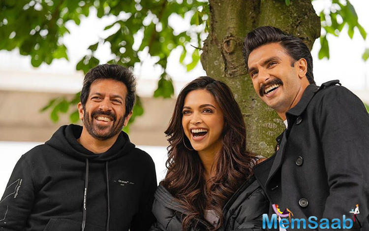 In the photos, with all smiles, Ranveer Singh, his wifey Deepika Padukone and Kabir Khan were seen captured at the moment.