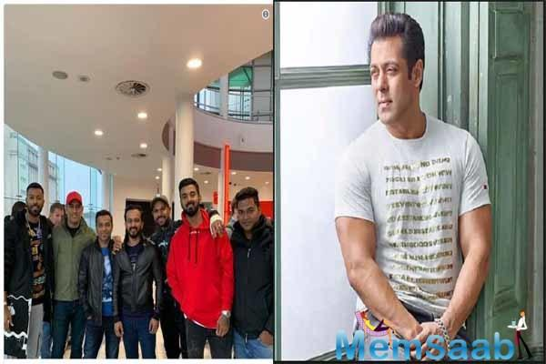 Not only Salman's fans in India but even the Indian cricket team watched the film in Nottingham yesterday and Kedar Jadhav took to social media to share a picture post the film.