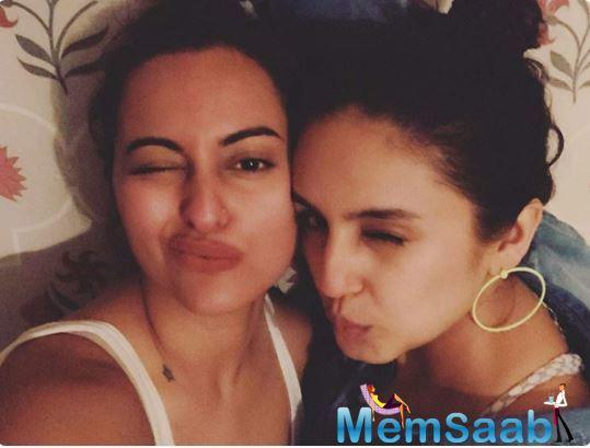 Today, Sonakshi took to social media to share a cute photo from their fun time together.