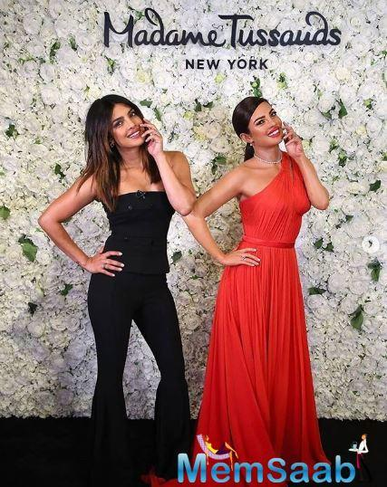 Talking about her wax statue, Priyanka Chopra's wax statue is a look sketched of her 2017 Golden Globes appearance.