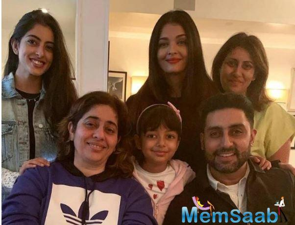 In another selfie, we can see Abhishek and Aishwarya posing with each other and twinning in colour coordinated outfits. The two can be seen smiling away as they enjoy some quality time together in a foreign land.