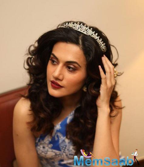 Taapsee Pannu is the name that the actress herself adjusted it to but her father gave her name the spelling of T-A-P-A-S-E-E Pannu.