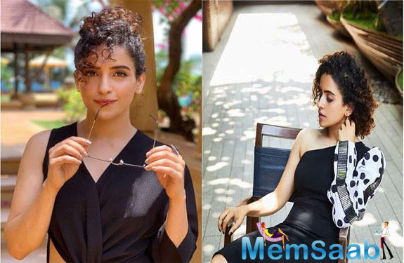 Sanya Malhotra is winning the internet with new pictures from a recent photoshoot and the diva looks absolutely stunning in them, essaying her inner diva and the fashion police is surely loving it.