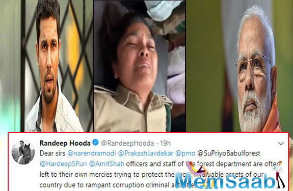 In a series of tweets, Hooda is trying to seek the attention of Prime Minister Narendra Modi and other political leaders in order to restore and protect the forest officers.