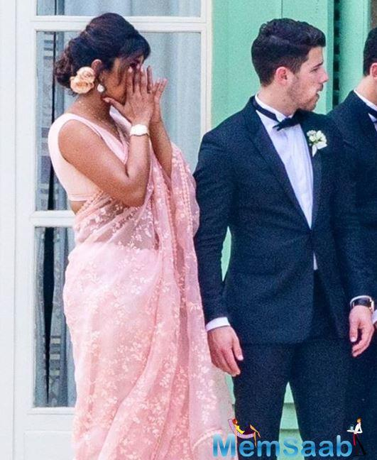 There are also glimpses of Priyanka clicking selfies and posing for pictures ahead of the wedding. Other guests can also be seen in the vicinity.