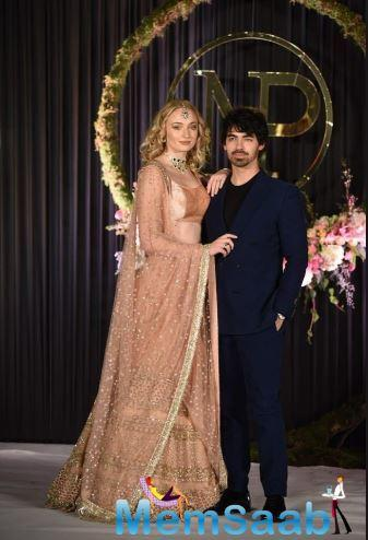 Sophie Turner and singer-songwriter Joe Jonas, who recently tied the knot for a second time, in France, celebrated their wedding reception with a star-studded ceremony.