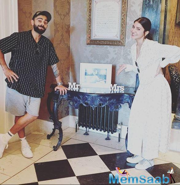 Looks like Anushka has joined Virat after all and now that there are barely a few days left until the World Cup 2019 finals, they might be staying together.
