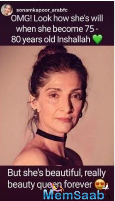 The Aisha actress has a number of fan pages dedicated to her and they never fail to shower love by dedicating posts to the actress.