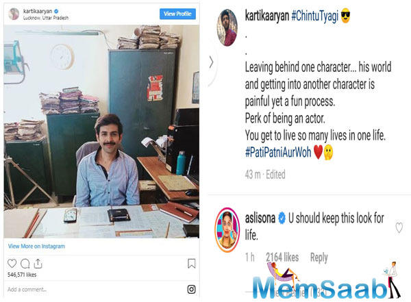 Dressed in a blue shirt and sporting moustache, Kartik can be seen sitting in a government office with heaps of files around him.