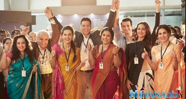 A few days back, Akshay had a shared a photo of the female cast of the film and had mentioned that Mission Mangal is completely dedicated to the women scientists who made it a success.