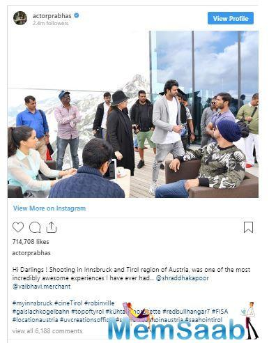 However, according to the latest reports, the release date of Saaho may get shifted. Earlier, the movie was scheduled to be released into the theatres on August 15, 2019 on the occasion of India's Independence Day.