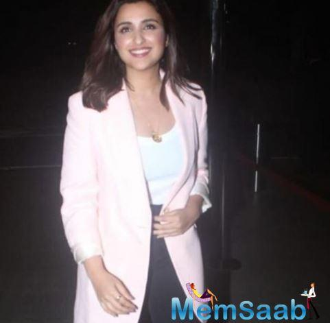 Parineeti Chopra has been really busy in Jabariya Jodi promotions and there is a scheduled break in promotions for now as the actress had to be the US for her elder sister's birthday.