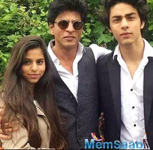 The Baadshah of Bollywood was recently snapped in Maldives along with Aryan, Suhana and AbRam.