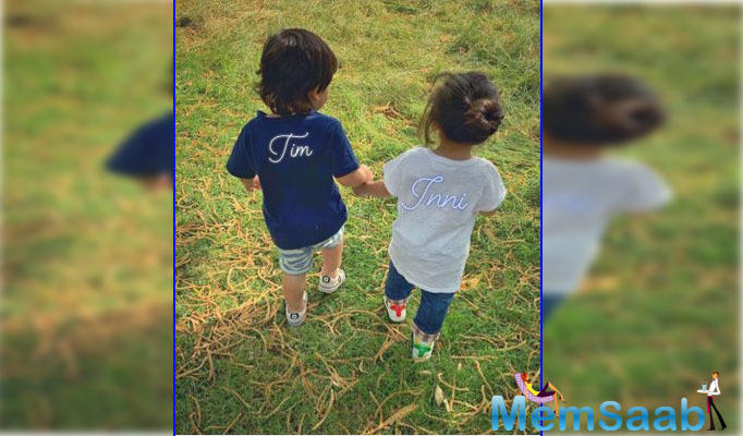 On July 18, Kunal Kemmu shared an adorable picture of little Taimur with sister Inaaya Naumi Kemmu on Instagram, and people can't stop gushing over their cuteness. Take a look at it!