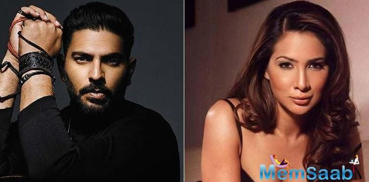 Bollywood star Kim Sharma, who is rumoured to be Yuvraj Singh's ex-girlfriend recently took to her Instagram handle to share herself with the former cricketer and his actress wife Hazel Keech.