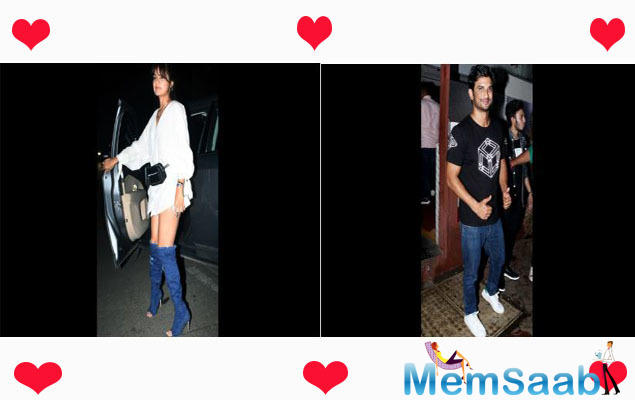 On Thursday, it was a romantic night for Sushant Singh Rajput and Rhea Chakraborty as he accompanied her for a dinner date in his car.