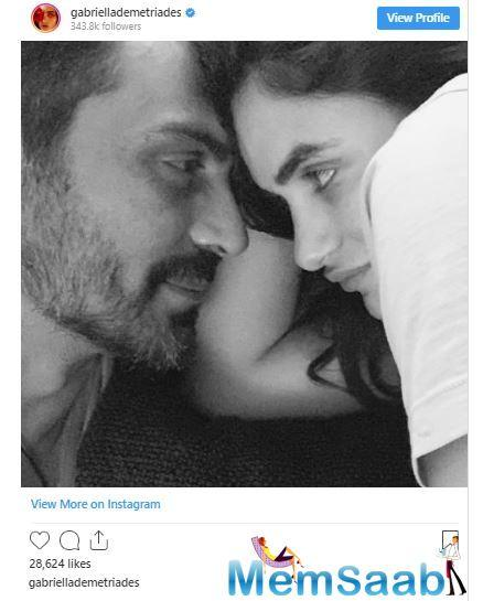 Gabriella Demetriades was admitted to the Hinduja Hospital on Wednesday and her parents flew all the way and visited their grandchild. Arjun Rampal's daughters Maahika and Myra also visited them at the hospital to meet their baby brother.