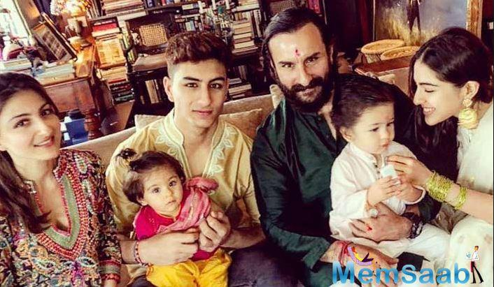 Saif is shooting for his next movie Jawaani Jaaneman in London. He briefly spoke to Hindustan Times where the actor spoke up about his elder son Ibrahim Ali Khan taking up acting.