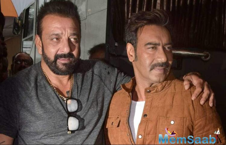 A few weeks back, we told you that Ajay Devgn has joined Sanjay Dutt and Sonakshi Sinha in the Hyderabad schedule of their upcoming venture Bhuj: The Pride of India.