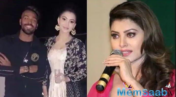 Urvashi Rautela is concerned about the gossip about her and Hardik Pandya.