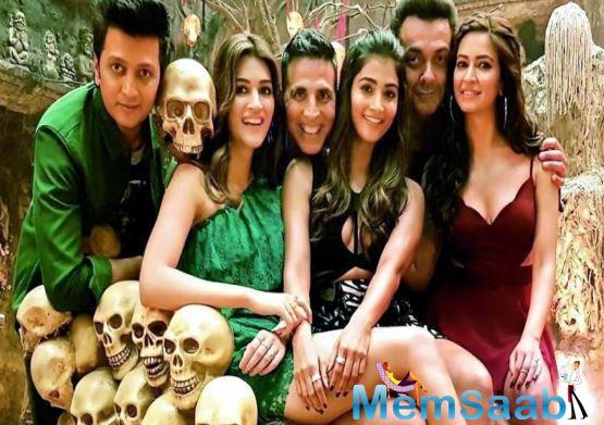 """The film boasts a huge starcast — Akshay, Riteish, Bobby Deol, both the Kritis – Sanon and Kharbanda, Pooja Hegde, Rana Daggubati, Amanda Rosario apart from Boman Irani and Nawazuddin Siddiqui among a host of others."