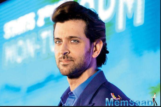 """Hrithik said, """"So, we are in the final stage of the script. It's script's final stage is where we are at. That's what I would say."""""""