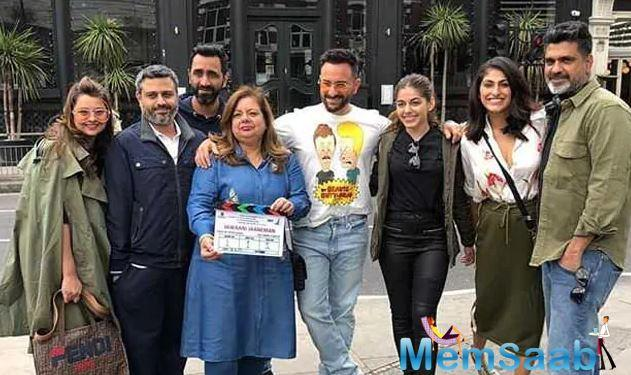 """Talking about the same Tabu told Mumbai Mirror, """"This is an altogether different film, and it's amazing to work with Saif after so many years."""""""