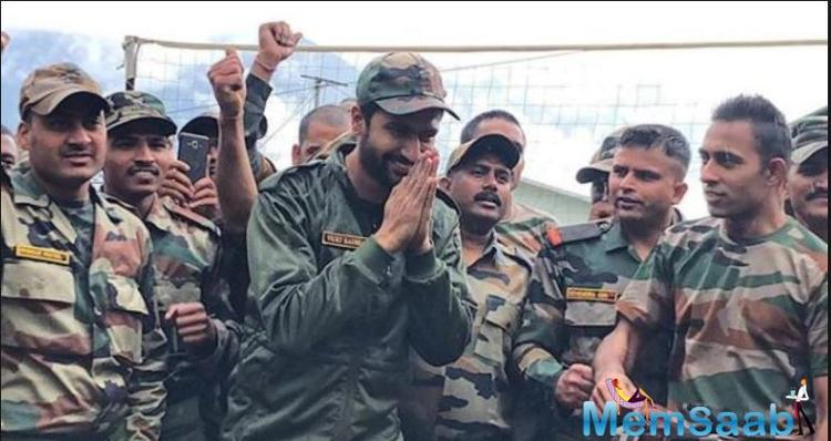 Vicky Kaushal, who left fans stunned with his stellar performance in 'Uri: The Surgical Strike', is elated when he spends time with the Indian Army.