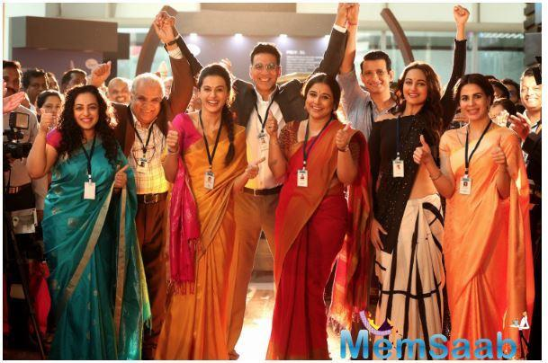 Vidya Balan plays Tara Shinde, a scientist who also believes in the Supreme Power, despite being mocked by her son. She scores an extra star in this review for the team.