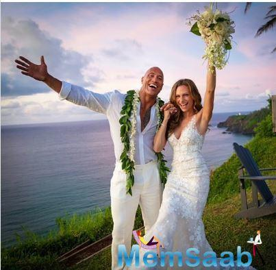 WWE wrestler-turned-actor Dwayne Johnson has tied the knot with his partner of over 10 years, Lauren Hashian.