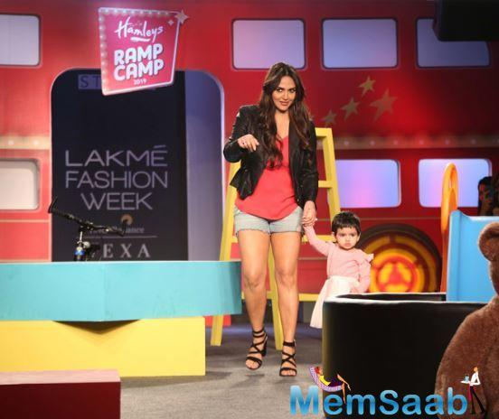Esha Deol also shared pictures and videos from the fashion week with her daughter on Instagram account. She captioned the post to be Radhya's first ramp walk and expressed her excitement about the same.