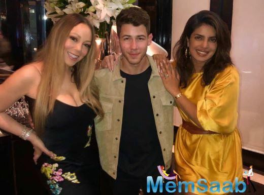 Recently, a picture of the lovebirds with American singer Mariah Carey has gone viral on the Internet.