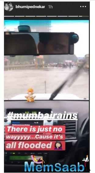 Bhumi shared that she was en route Khopoli to shoot but it's been more than 4 hours that she had been in the vehicle.