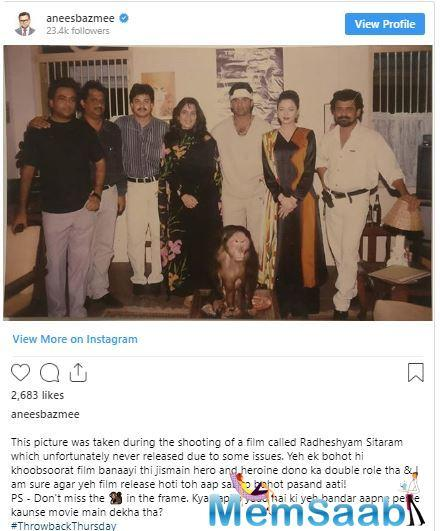 Anees posted the vintage photo by writing,